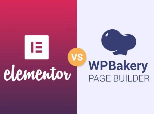 comparatif Elementor et WPbakery